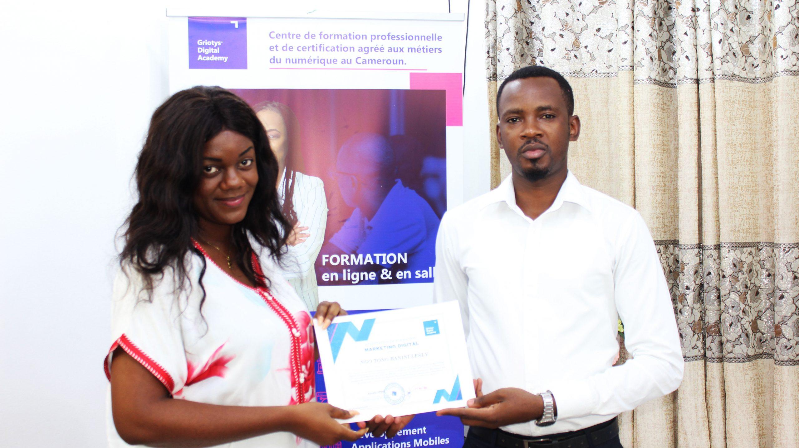Soleil-Banini-temoignage-formation-marketing-digital-Griotys-Digital-Academy-Cameroun