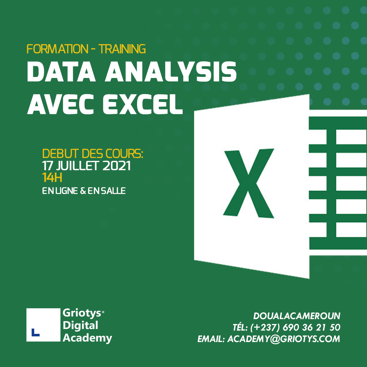 Formation-analysis avec excel-Griotys-Digital-Academy